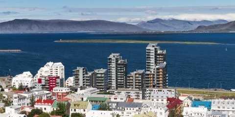 Citi of Reykjavík in the summertime