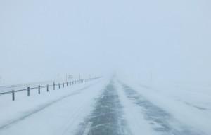 Schneesturm auf dem Sandskeið. Foto: Dagmar Trodler