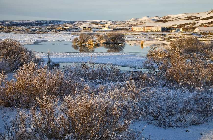Winter Lake Mývatn