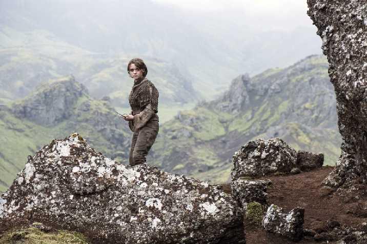 Game of Thrones TV Series 2011 ???? USA Created by : David Benioff, D.B. Weiss 2014 Season 4, episode 10 : The Children Director : Alex Graves Maisie Williams. Image shot 2014. Exact date unknown.