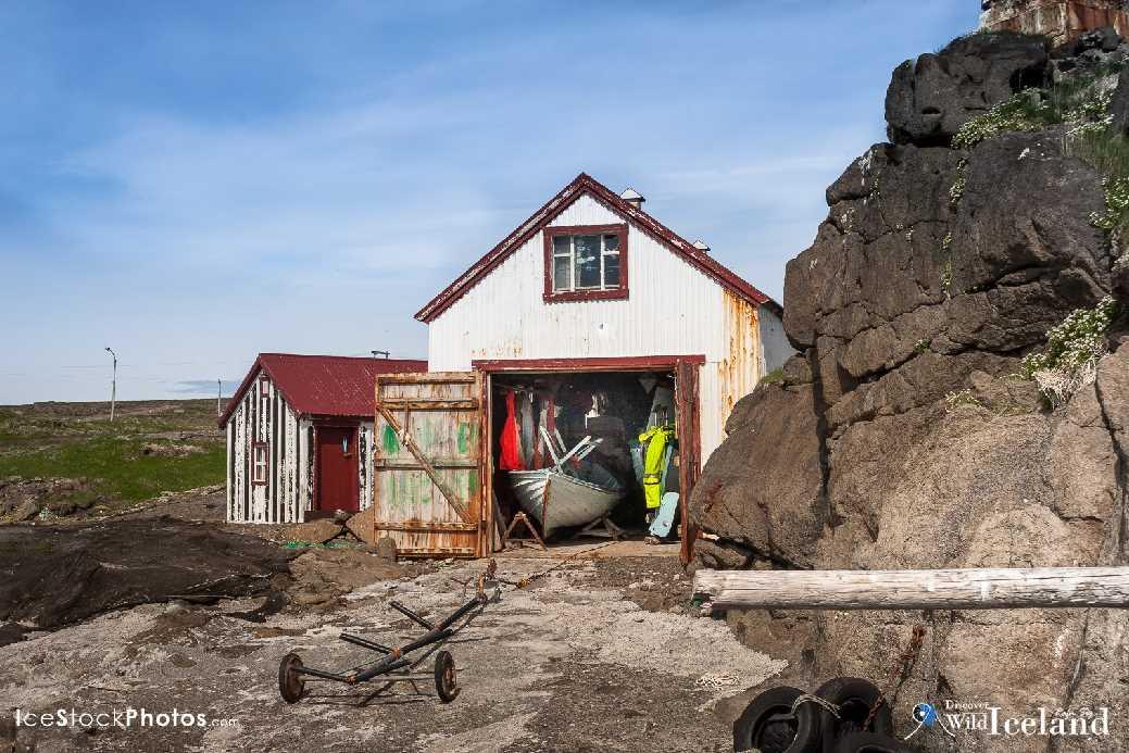 Small village Gjögur, Westfjords, Iceland