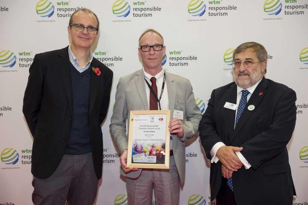 world Responsible Tourism Awards 2015 Silver Winners - Justin Francis - WTM Responsible Tourism  Gubjartur Ellert Jonsson - North Sailing Husavik Professor Harold Goodwin - WTM Responsible Tourism.