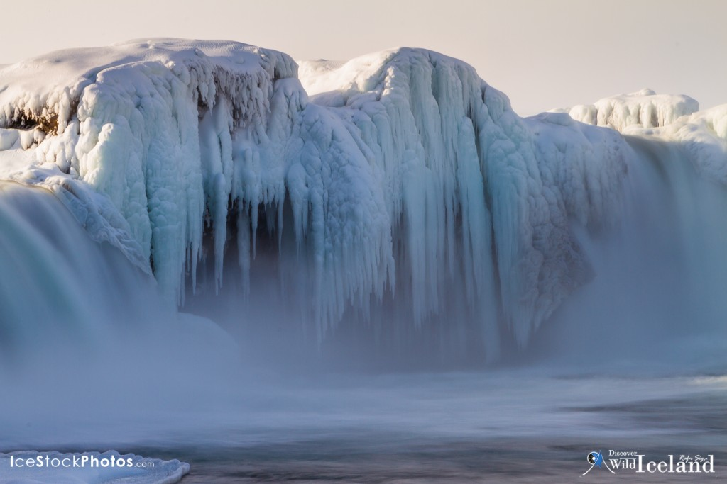 The Goðafoss  is one of the most spectacular waterfalls in Iceland. It is located in the Bárðardalur district of North-Central Iceland at the beginning of the Sprengisandur highland road. The water of the river Skjálfandafljót falls from a height of 12 meters over a width of 30 meters