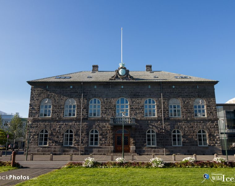 Alþingishúsið (The Parliament House) is a classical 19th century structure which stands by Austurvöllur in central Reykjavík, Iceland. It houses Alþingi, the Icelandic parliament. The building was designed by Danish architect Ferdinand Meldahl and built using hewn dolerite during 1880 to 1881.