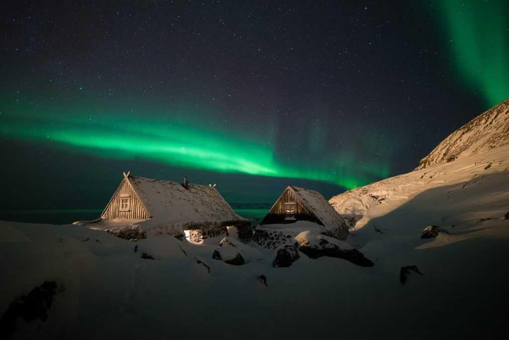 Cold winter night at Ósvör, Bolungarvik