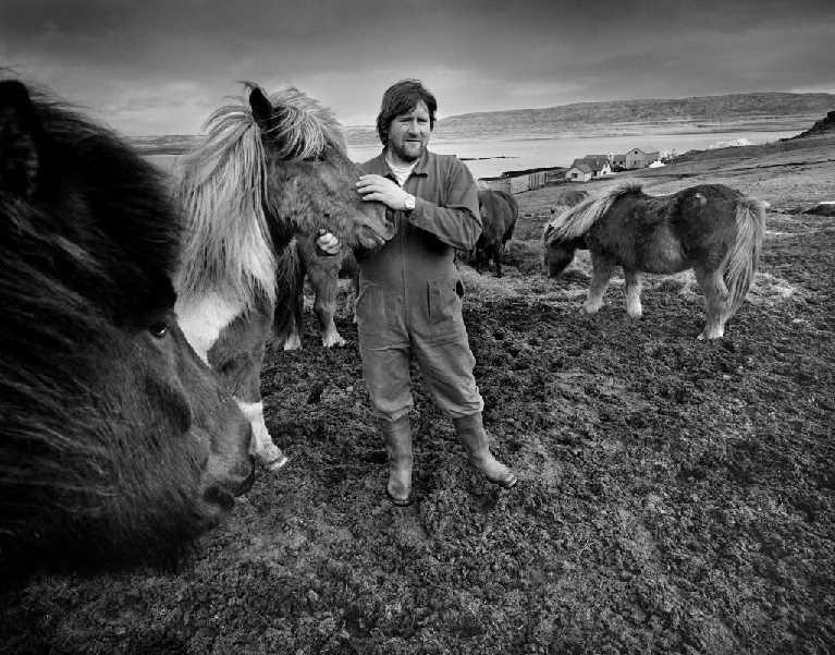 Sigmundur Sigmundsson, farmer Latrum. One of few remaining full time farmer in the community. 2005
