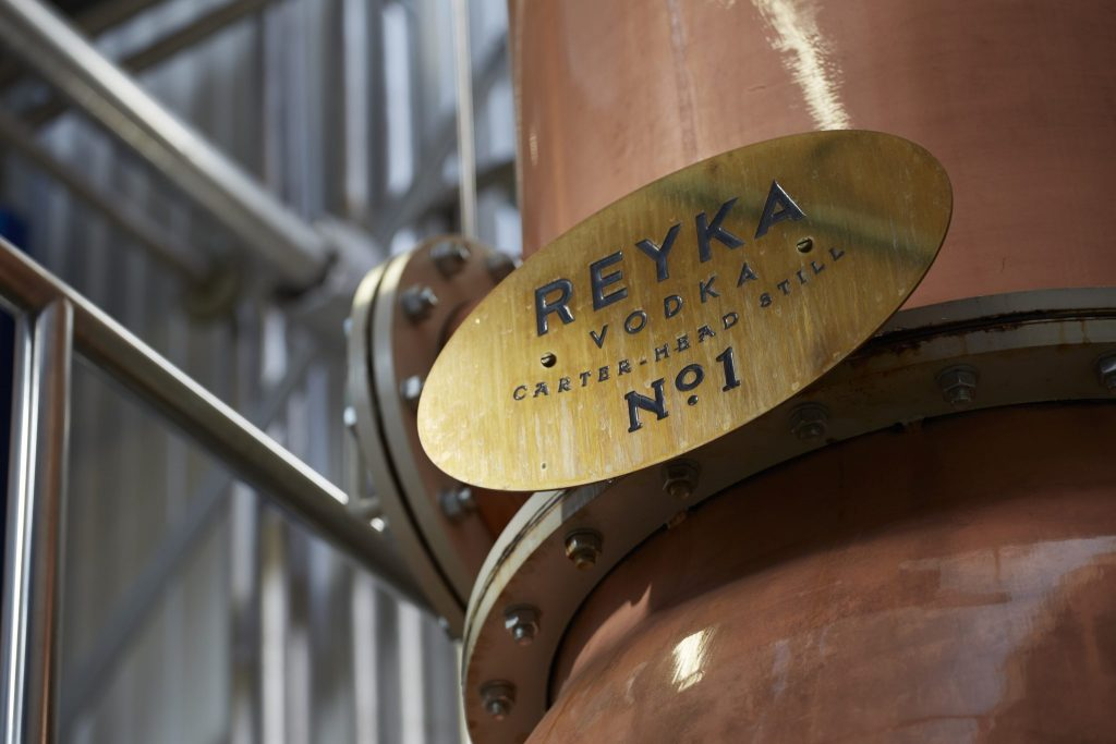 Reyka - Distillery sign