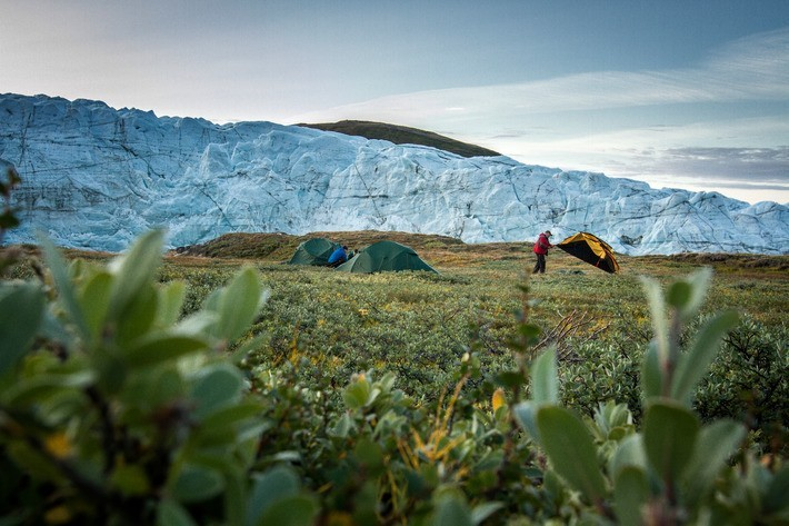 Destination Page 1-A tent camp by the Russell Glacier near Kangerlussuaq in Greenland