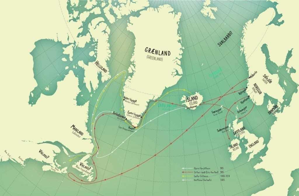 Map Of Ireland Vikings.Vikings And Settlement Icelandic Times