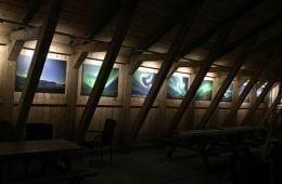 aurora photos on display