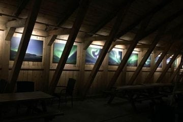 aurora photos on display