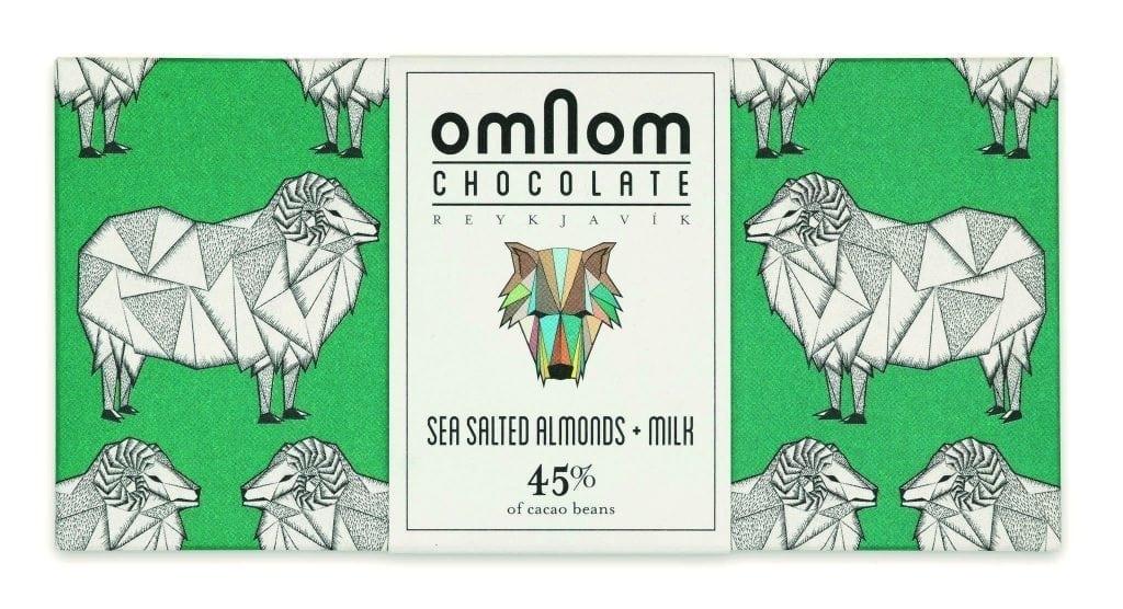 almonds chocolate omnom
