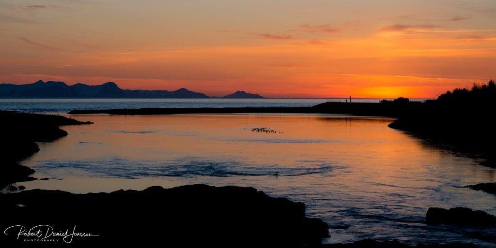 Blanda rivière au coucher du soleil