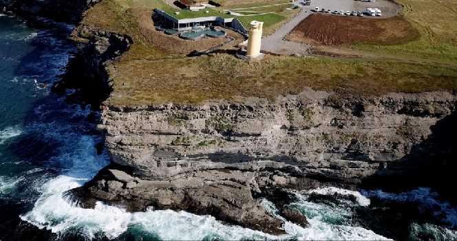 Drone photo GeoSea Northwest Iceland