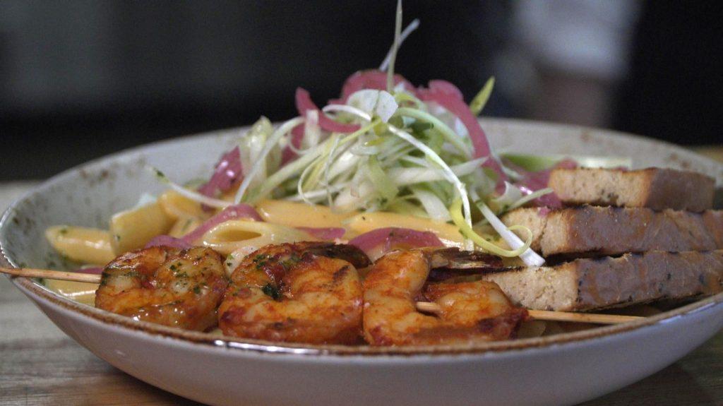 Gamli baukur schrimp dish