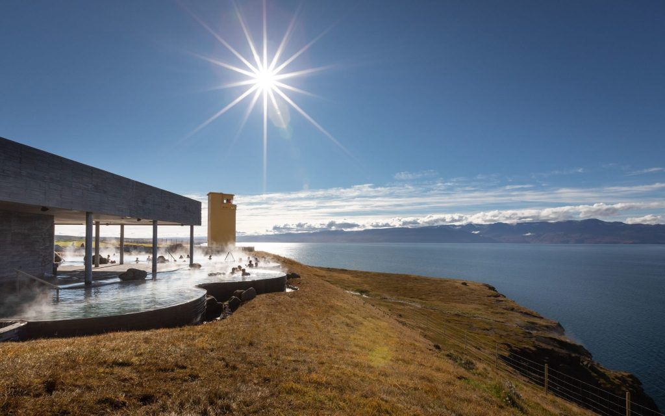 Geothermal sea baths in North Iceland