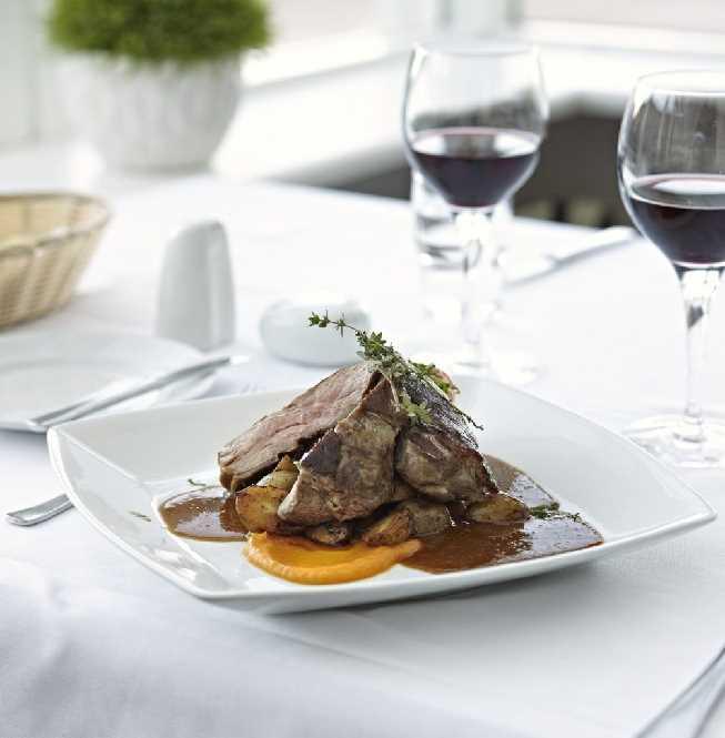Hotel Klaustur lamb meat course