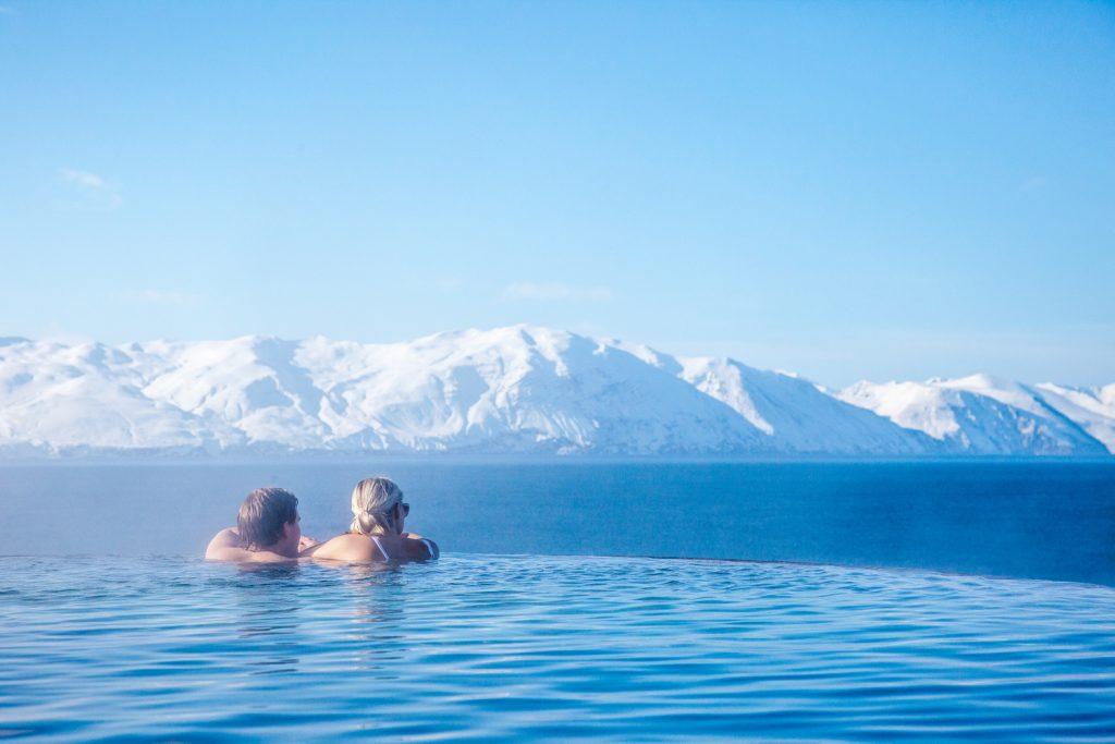 Hot sea baths North Iceland