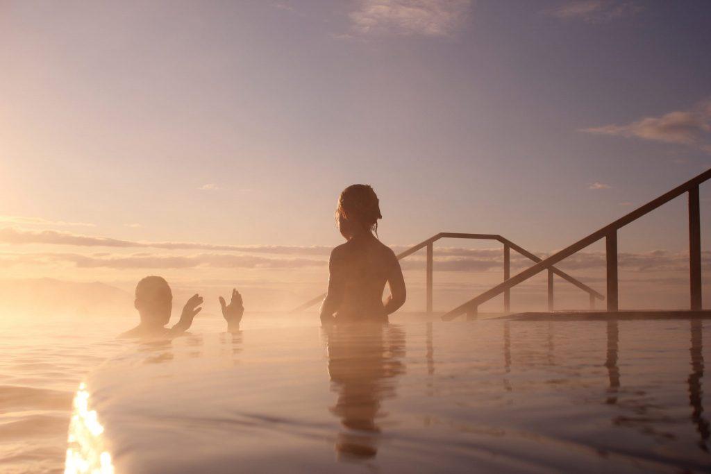 Summer nights in the sea baths in Húsavik