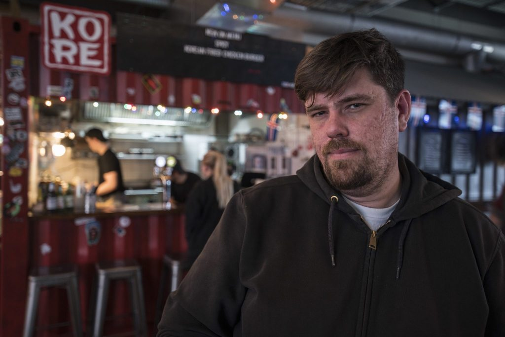 Atli Snær - head chef at KORE