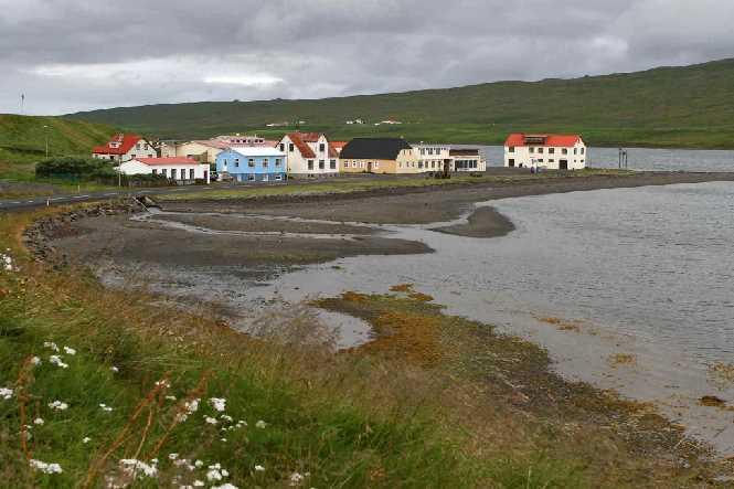 Borðeyri coastline