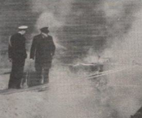 Churchill visiting geothermal pools in Iceland