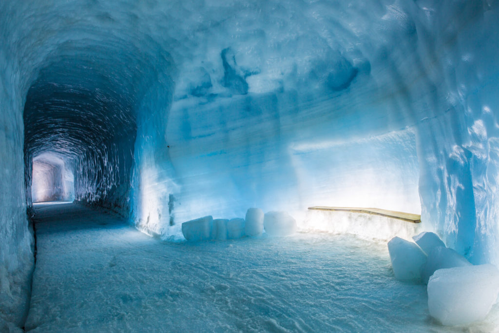 Into the glacier hallway