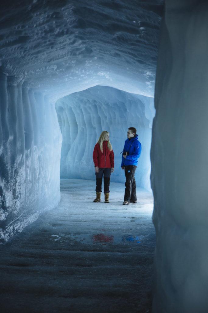 Under Langjökull Glacier