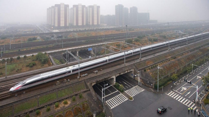 The Beijing-Shanghai high-speed railway