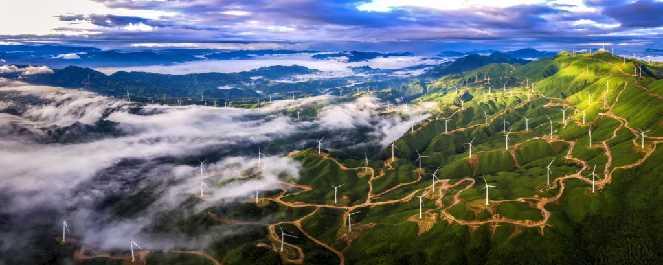 Yuanjiang Wind Farm in Xing'an, Guilin, Guangxi Zhuang Autonomous Region