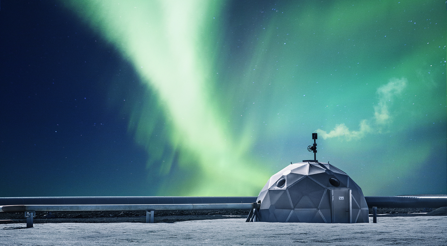 Geothermal Energy Exhibition & Northern lights