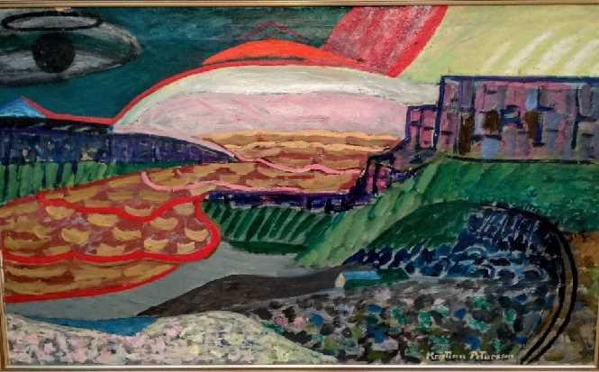 Kristinn Pétursson ( 1896-1981) Landscape 1956